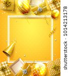 luxury birthday template with... | Shutterstock .eps vector #1014213178