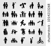 humans vector icon set. elderly ... | Shutterstock .eps vector #1014213268