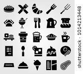 restaurant vector icon set....   Shutterstock .eps vector #1014213448