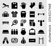 fitness vector icon set. block  ... | Shutterstock .eps vector #1014217468