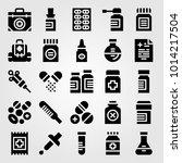 medical vector icon set. spray  ... | Shutterstock .eps vector #1014217504