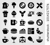 restaurant vector icon set. cup ... | Shutterstock .eps vector #1014217576