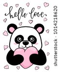 hello love. hand drawn creative ... | Shutterstock .eps vector #1014218620