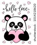 hello love. hand drawn creative ... | Shutterstock .eps vector #1014218620