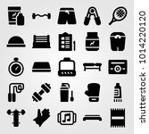 fitness vector icon set. ring ... | Shutterstock .eps vector #1014220120