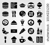 restaurant vector icon set.... | Shutterstock .eps vector #1014221230