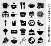 restaurant vector icon set.... | Shutterstock .eps vector #1014221284