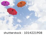 a number of colorful sunscreens ... | Shutterstock . vector #1014221908