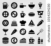 restaurant vector icon set.... | Shutterstock .eps vector #1014224230