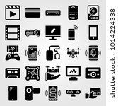 technology vector icon set.... | Shutterstock .eps vector #1014224338