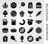 food and drinks vector icon set.... | Shutterstock .eps vector #1014224758
