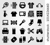 shopping vector icon set.... | Shutterstock .eps vector #1014226660