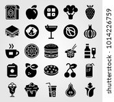 food and drinks vector icon set.... | Shutterstock .eps vector #1014226759