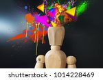 mind blowing manikin with... | Shutterstock . vector #1014228469