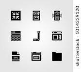 web design vector icon set.... | Shutterstock .eps vector #1014229120