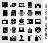 technology vector icon set.... | Shutterstock .eps vector #1014229138