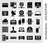 technology vector icon set.... | Shutterstock .eps vector #1014229240