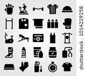 fitness vector icon set. gym... | Shutterstock .eps vector #1014229258