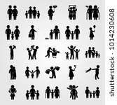 humans vector icon set. boy ... | Shutterstock .eps vector #1014230608