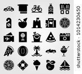 summertime vector icon set.... | Shutterstock .eps vector #1014230650