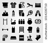 fitness vector icon set. gym... | Shutterstock .eps vector #1014230710