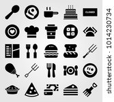 restaurant vector icon set....   Shutterstock .eps vector #1014230734
