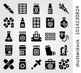 medical vector icon set.... | Shutterstock .eps vector #1014230824