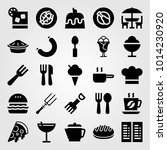 restaurant vector icon set. ice ... | Shutterstock .eps vector #1014230920
