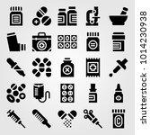 medical vector icon set.... | Shutterstock .eps vector #1014230938
