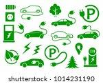 ecological technology car | Shutterstock . vector #1014231190