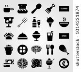 restaurant vector icon set.... | Shutterstock .eps vector #1014231874