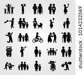 humans vector icon set. baby ... | Shutterstock .eps vector #1014232069
