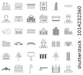 megalopolis icons set. outline... | Shutterstock .eps vector #1014232360