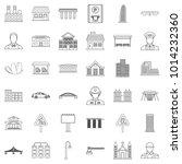 megalopolis icons set. outline...   Shutterstock .eps vector #1014232360