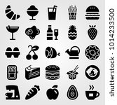 food and drinks vector icon set.... | Shutterstock .eps vector #1014233500