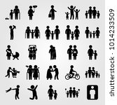 humans vector icon set. family  ... | Shutterstock .eps vector #1014233509