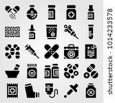 medical vector icon set. flask  ... | Shutterstock .eps vector #1014233578