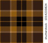 brown tartan plaid scottish... | Shutterstock .eps vector #1014233824