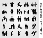 humans vector icon set. old... | Shutterstock .eps vector #1014233908
