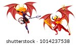 evil demons with trident | Shutterstock .eps vector #1014237538