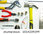 different construction tools... | Shutterstock . vector #1014239299