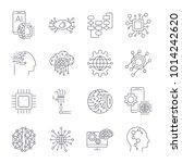 artificial intelligence ... | Shutterstock .eps vector #1014242620