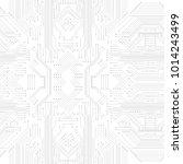 seamless vector futuristic... | Shutterstock .eps vector #1014243499