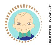 cute toddler boy with the bow... | Shutterstock .eps vector #1014247759