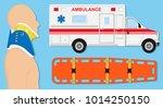 cervical collar prevent... | Shutterstock .eps vector #1014250150