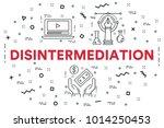 conceptual business... | Shutterstock . vector #1014250453