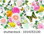 floral seamless pattern | Shutterstock .eps vector #1014252130