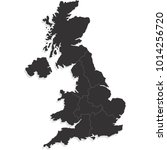 united kingdom map | Shutterstock .eps vector #1014256720