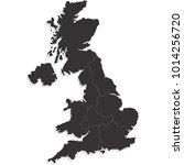 united kingdom map | Shutterstock .eps vector #1014256720