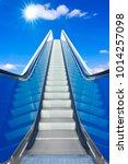 escalator to the blue sky  ... | Shutterstock . vector #1014257098